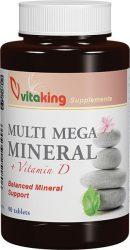 MULTI MEGA MINERAL + D-VITAMIN TABLETTA (Vitaking) 90 db
